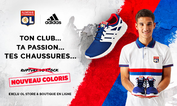 Boutiques : chaussures adidas édition OL !