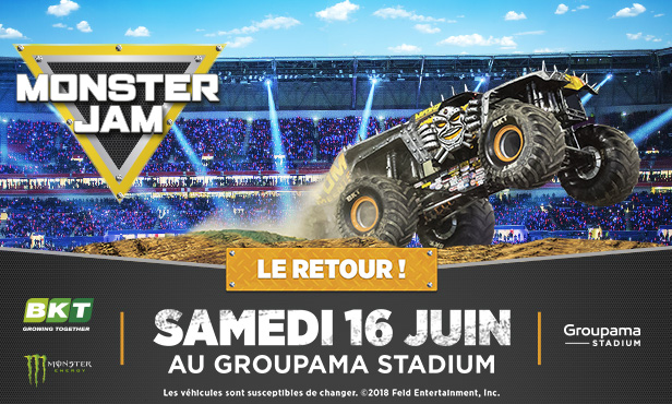 MONSTER JAM® returns to Groupama Stadium!